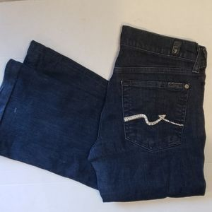 7 FOR ALL MANKIND Embellished Brand Bootcut Dark